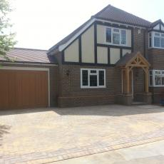 Garage conversion / side rear extension/ oak porch in Biockley