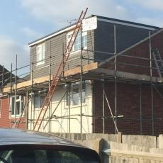 Dormer loft conversion nearing completion